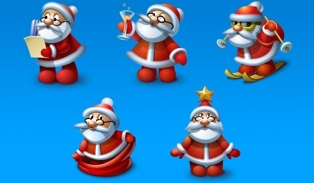Santa Icons set icons pack