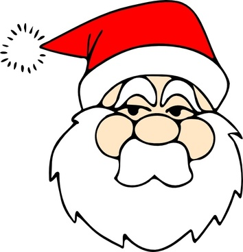 Santa Line Art clip art