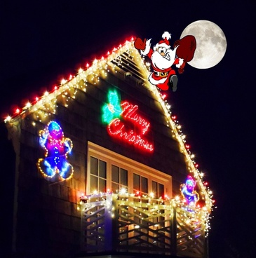 santa on the rooftop