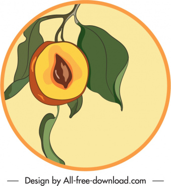 sapote fruit label template classic handdrawn sketch
