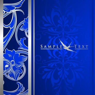 decorative background classical dark blue decor flower ornament