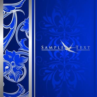 decorative background classical dark blue decor flower ornament