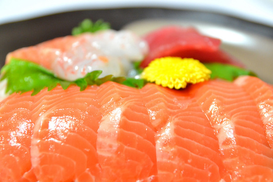 sashimi of salmon