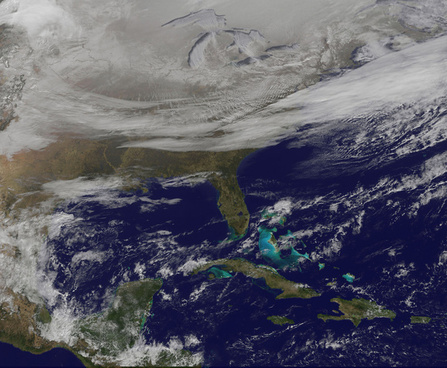 satellite picture shows the snow covered us deep freeze