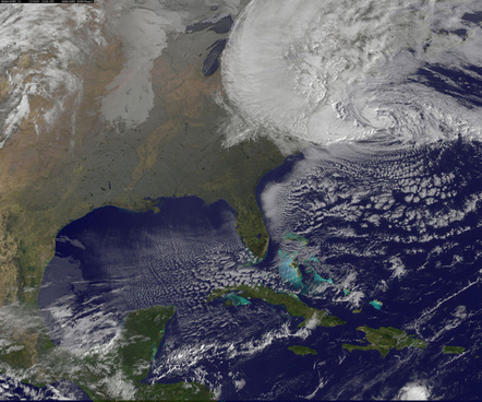 satellite view of hurricane sandy on oct 29