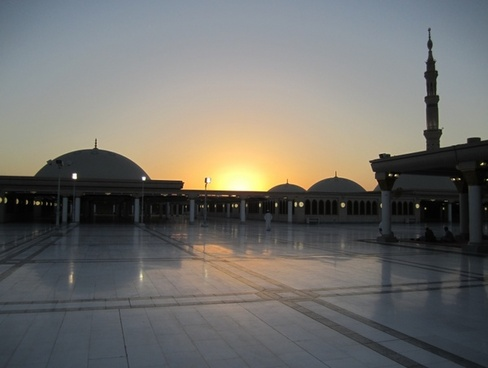 saudi arabia sunset mosque