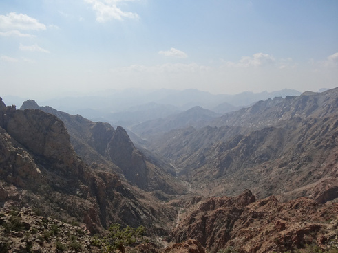 saudi mountain view