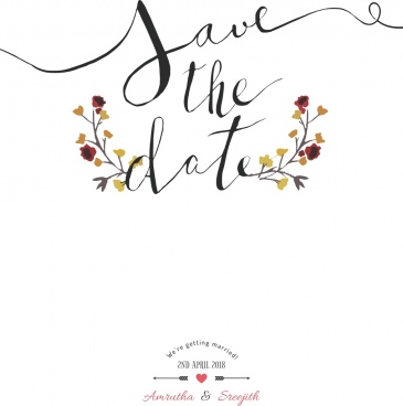 save the date water color