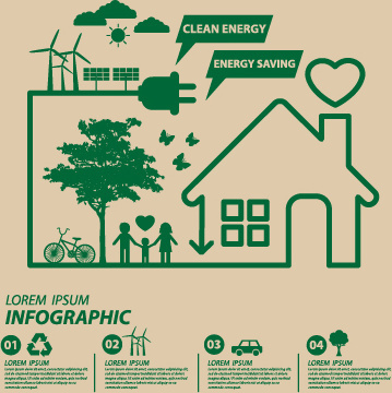 save world eco environmental protection template vector