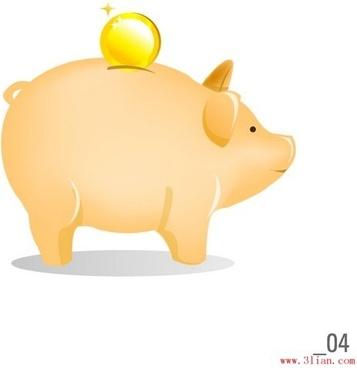 savings pig vector