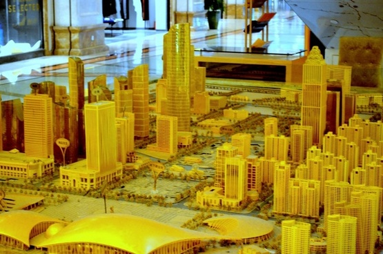 scale model city