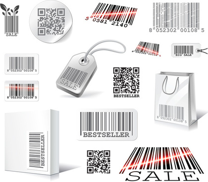 scan two dimensional code label design elements