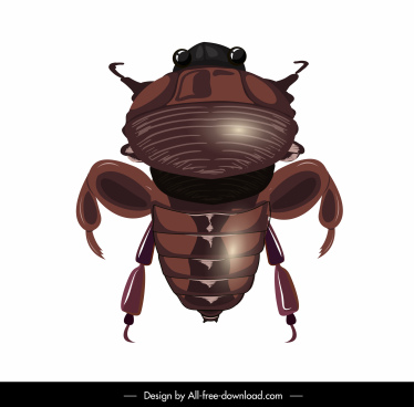 scarab icon shiny brown modern design