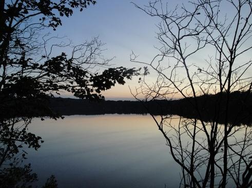 scargo lake sunset