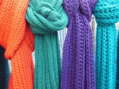 scarves knitted knitted scarves