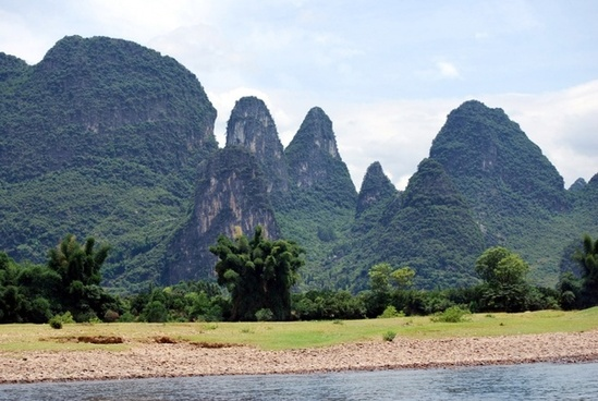 scenery of lijiang river