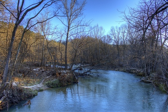 scenery of the current river at montauk state park missouri