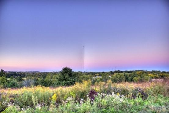 scenic dusk landscape in madison wisconsin