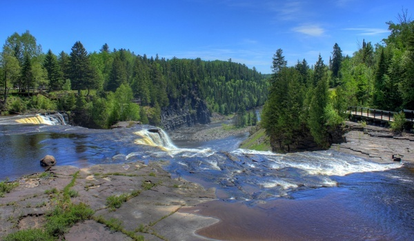 scenic landscape at kakabeka falls ontario canada