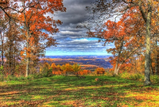 scenic overlook in blue mound state park wisconsin