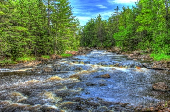 scenic riverway at amnicon falls state park wisconsin