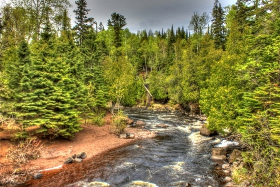 scenic riverway at cascade river state park minnesota