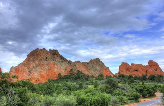 scenic view of the garden at garden of the gods colorado