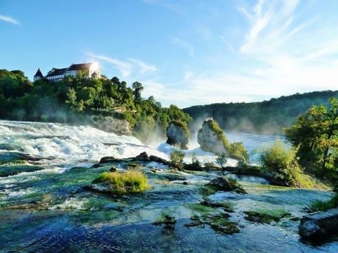 schaffhausen waterfall water