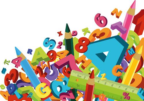 school accessories elements vector