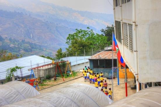 school children near haiti baptist mission