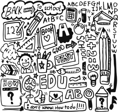 school drawn creative vector