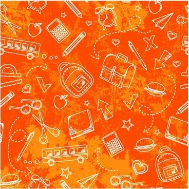 school grunge pattern