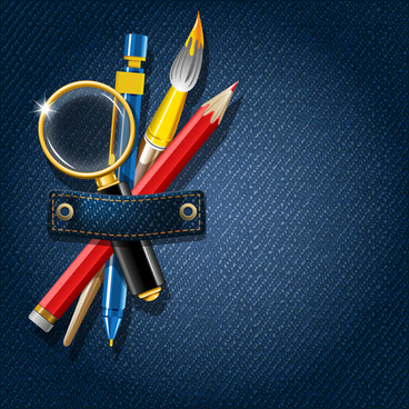 school supplies creative background