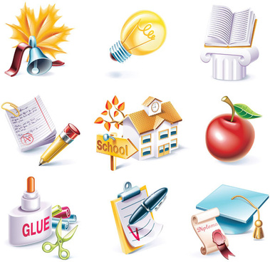 school theme icon vector