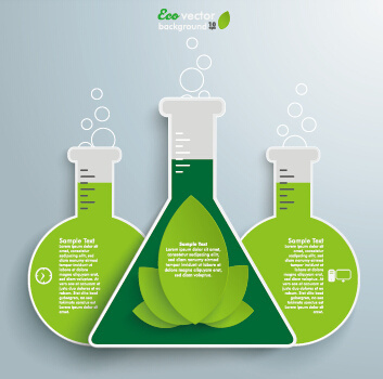 science experiment infographics vector graphics