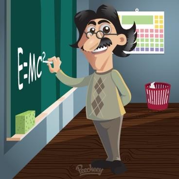 science teacher illustration