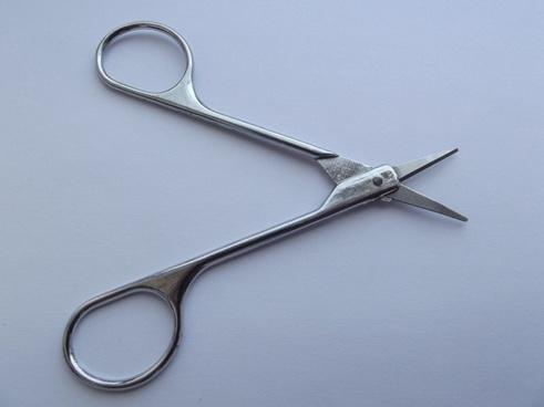 scissor scissors button