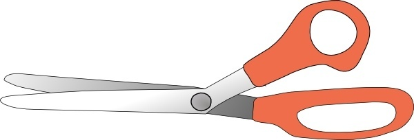 Scissors Slightly Open clip art