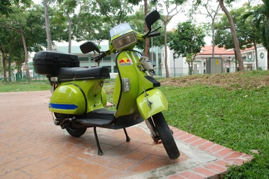 scooter motorcycle green
