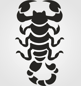 scorpion silhouette vector set