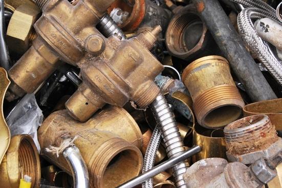 scrap brass waste