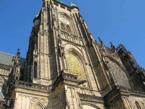 sct vitus cathedral arhiteture clock tower