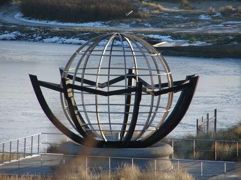 sculpture globe denmark