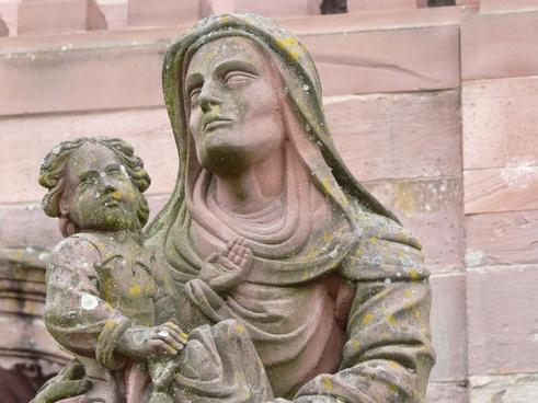 sculpture jungfau maria old