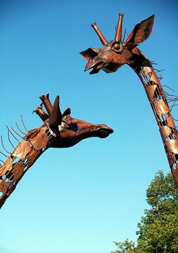 sculptures giraffe animal