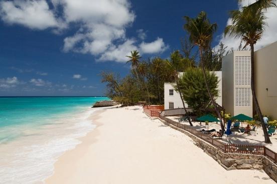 sea beach and hotel