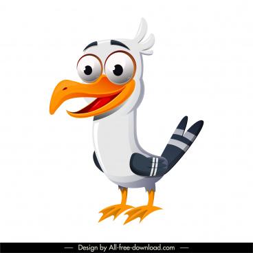 sea bird icon funny cartoon character sketch