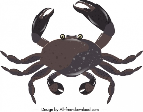 sea crab icon dark black decor modern design