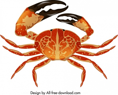 sea crab icon shiny modern design