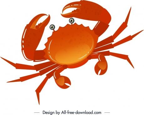 sea creature background crab icon red sketch